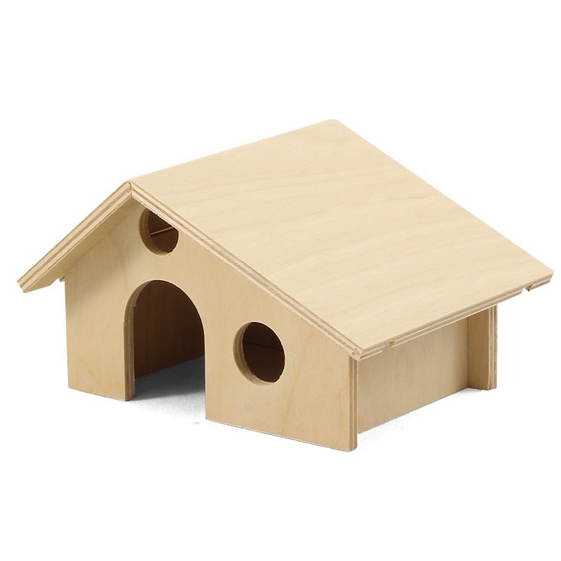 Гамма Домик для мелких животных, 16,5*13*10 см, фанера, Gamma