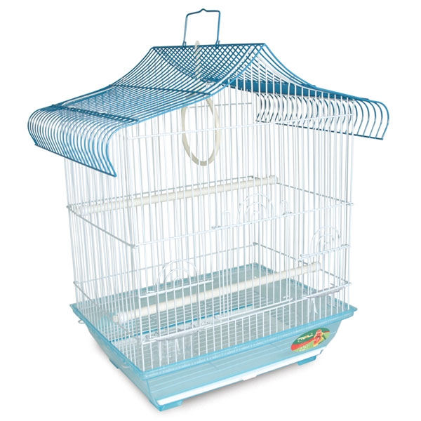 Триол Клетка с фигурной крышей для птиц, 34,5*28*50 см, в ассортименте, Triol