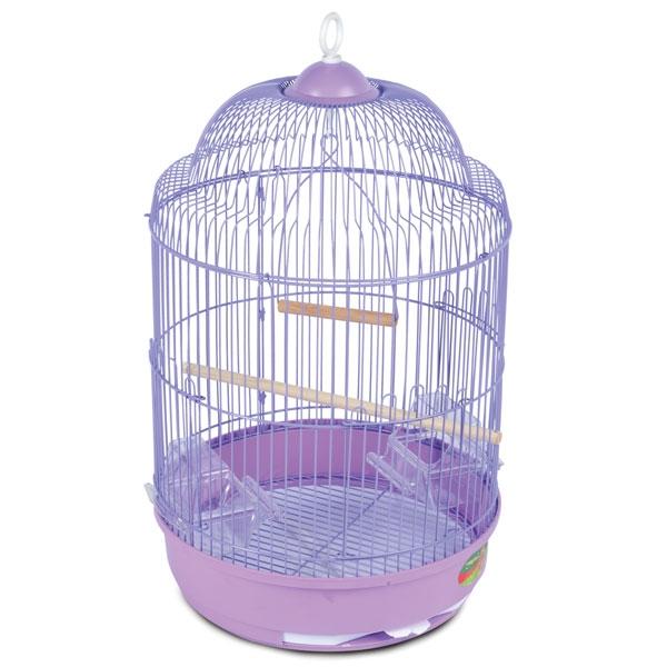 Триол Круглая клетка 33А для мелких птиц, 33*56,5 см, эмаль, Triol