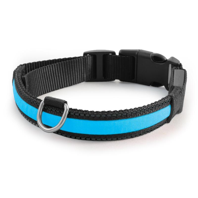 Триол Светящийся ошейник LD07 для собак, в ассортименте, синий, Triol