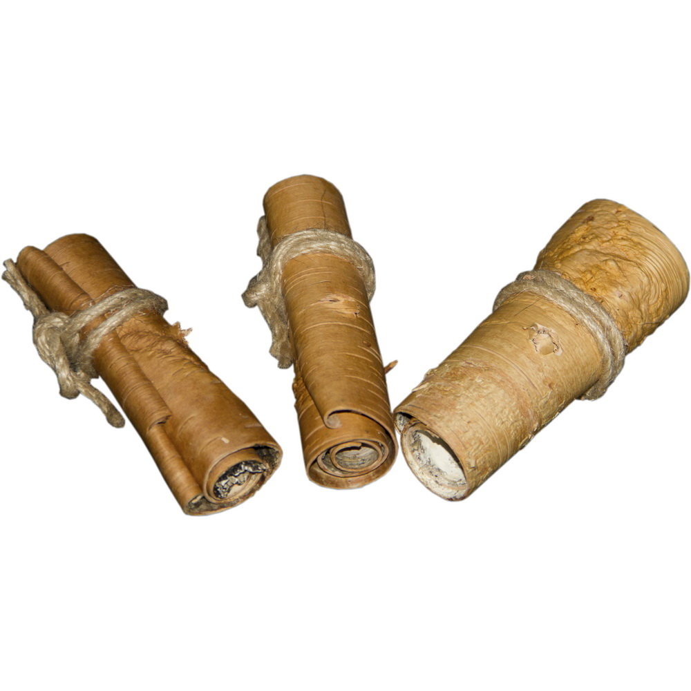 ПарротсЛаб Игрушка для птиц PL1061 Березовая кора в свитках, 3*10 см, 3 шт/уп., ParrotsLab