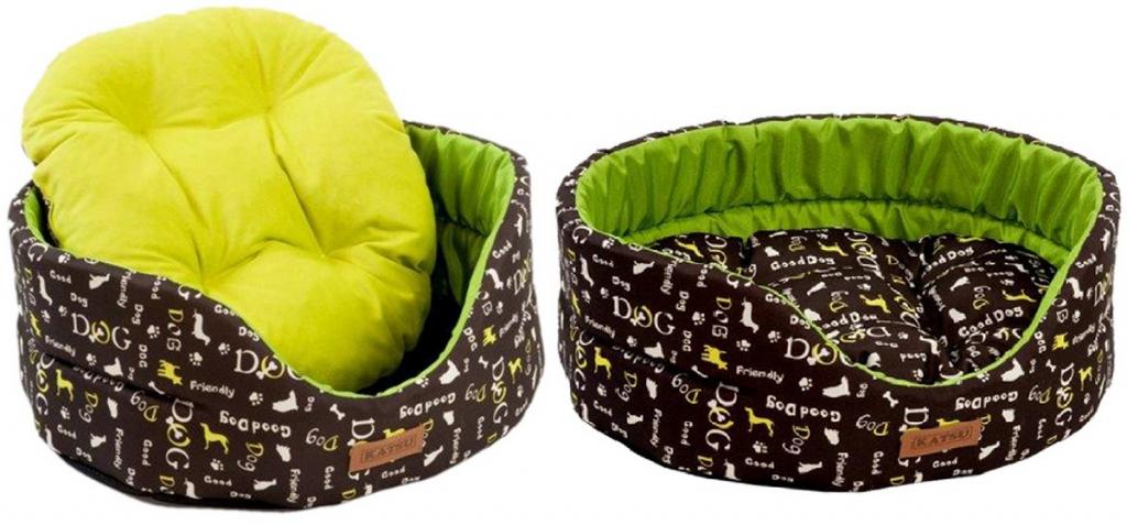 Катсу Лежак Yohanka Shine Dogs для кошек и собак, зеленый, в ассортименте, Katsu