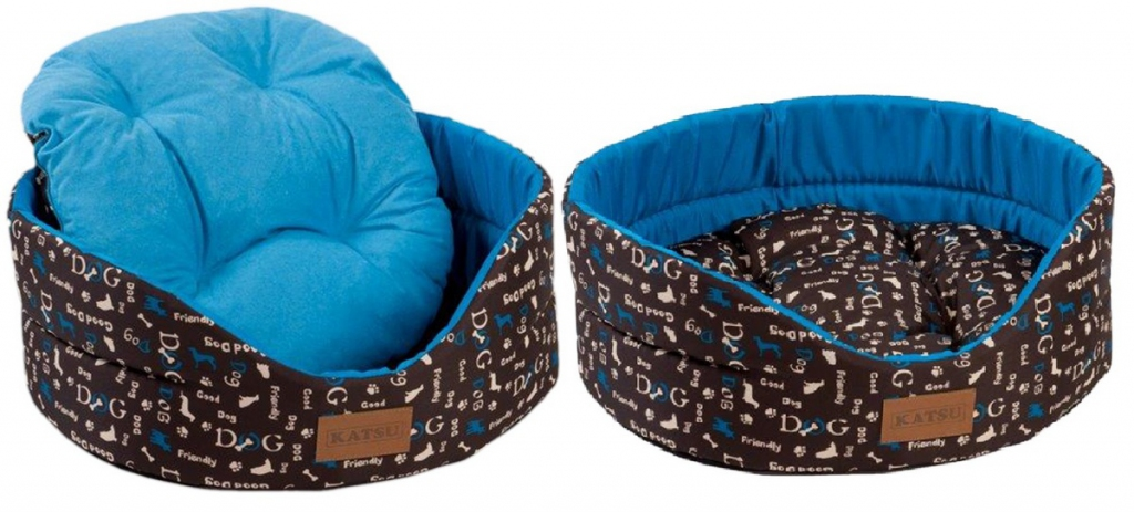 Катсу Лежак Yohanka Shine Dogs для кошек и собак, синий, в ассортименте, Katsu