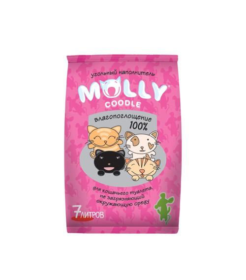 Молли Коддл Наполнитель угольный для кошачьих туалетов, 7 л, Molly Coddle