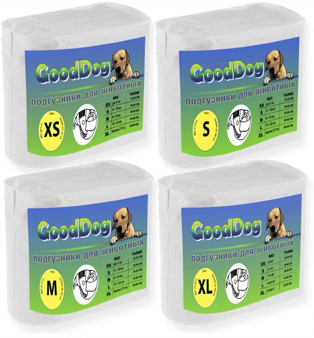 ГудДог Подгузники для домашних животных, в ассортименте, GoodDog