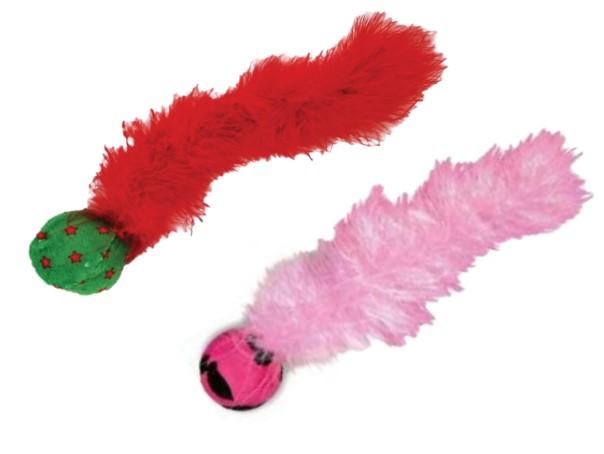 Конг Игрушка для кошек Дикий хвост, с перьями,  в ассортименте, Kong