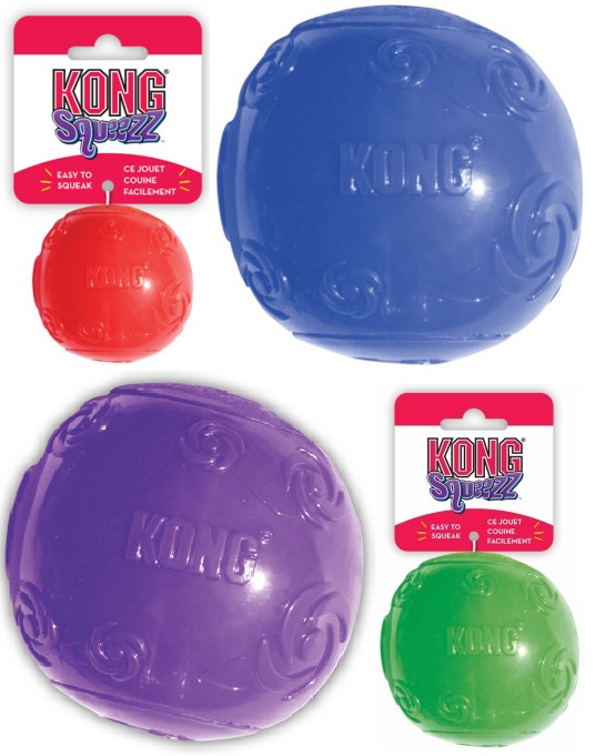 Конг Игрушка Squeezz для соба Мячик, 6 см, Kong
