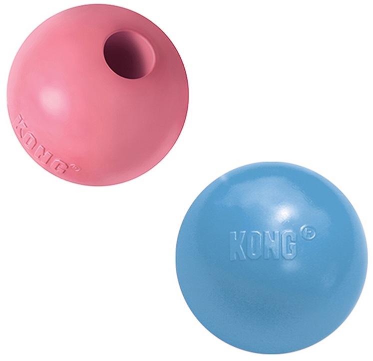 Конг Игрушка Puppy Мячик под лакомства для щенков мелких пород до 9 кг, 6 см, Kong