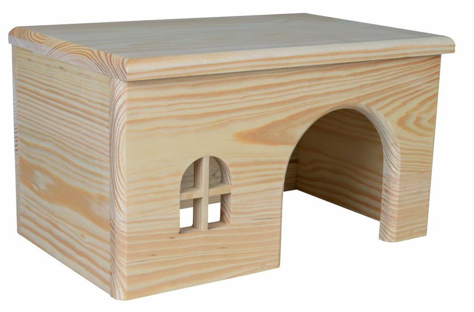 Трикси Домик с ровной крышей для грызунов и хорьков, 2 размера, дерево, Trixie