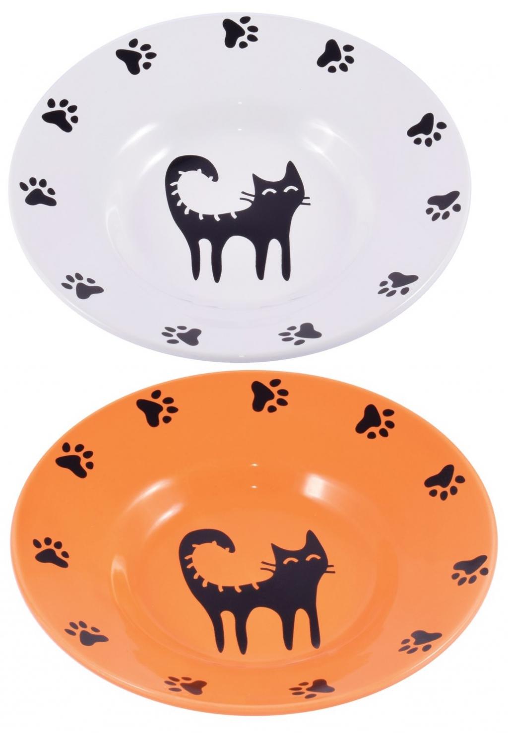 КерамикАрт Миска-блюдце керамическая для кошек, в ассортименте, 140 мл