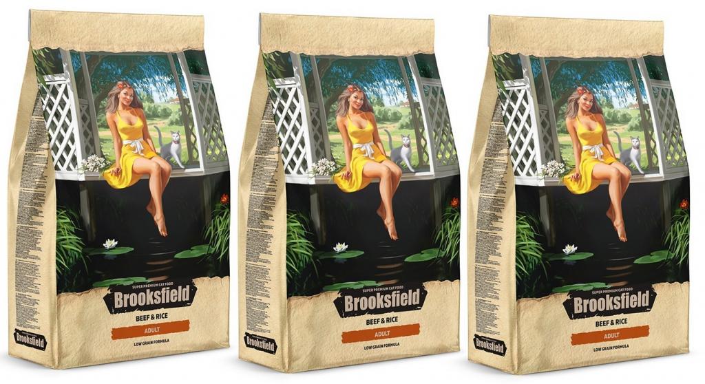 Бруксфилд Корм сухой низкозерновой Adult Cat Beef для взрослых кошек, Говядина/Рис, в ассортименте, Brooksfield