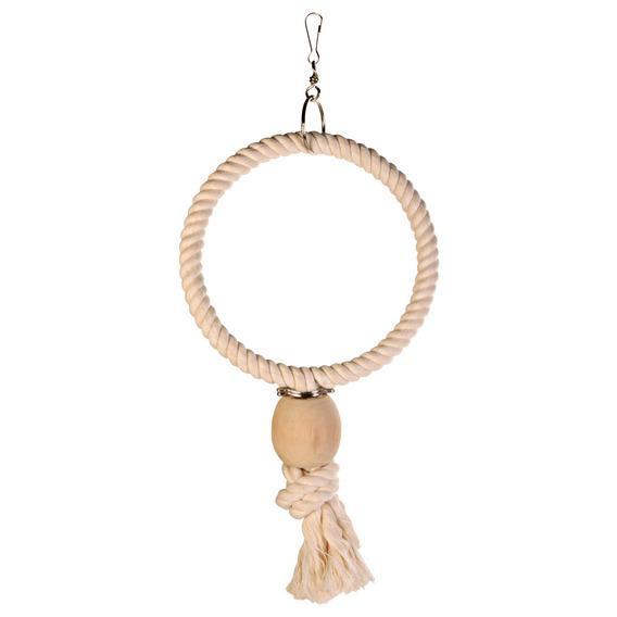 Трикси Кольцо из хлопка с узлом и деревянной бусиной, 2 размера, Trixie
