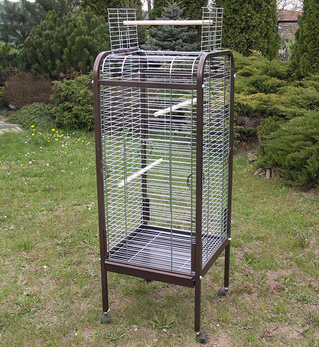 ИнтерЗоо Вольер Omega I для птиц, на колесах с открывающимся верхом, 56*56*146 см, оцинкованные прутья, в ассортименте, InterZoo