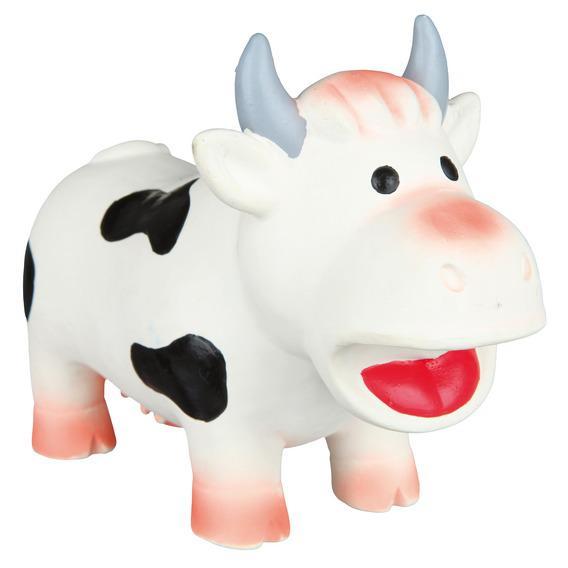 """Трикси Игрушка для собаки """"Корова"""", 19 см, латекс, Trixie"""