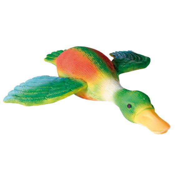 Трикси Игрушка для собаки Утка с крыльями крякающая, 30 см, латекс, Trixie