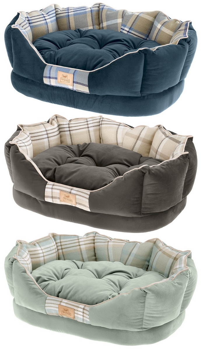 Ферпласт Лежак-cофа Charles с двухсторонней подушкой для кошек и собак, в ассортименте, Ferplast