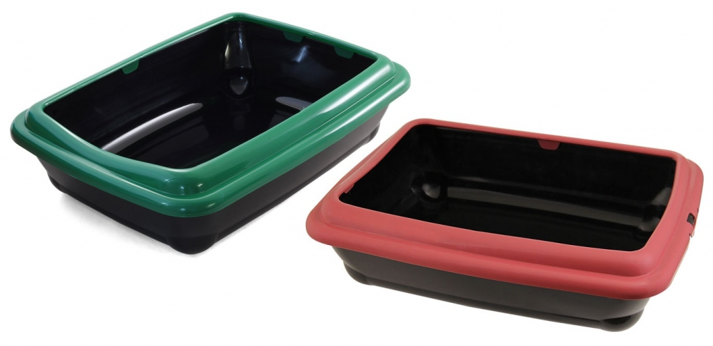 Гамма Туалет-лоток с бортиком Штиль для кошек, 45,5*35,5*13 см, Gamma