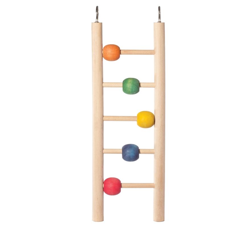 Триол Лестница с деревянными шариками для птиц и грызунов, 23*7 cм, Triol
