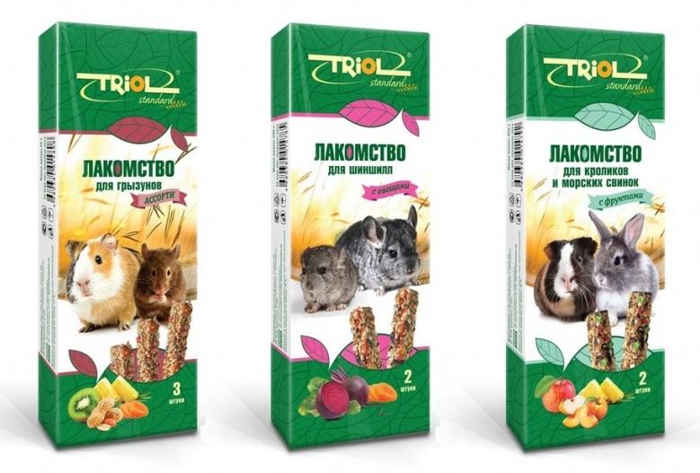 Триол Лакомство Triol Standard для грызунов, в ассортименте, Triol