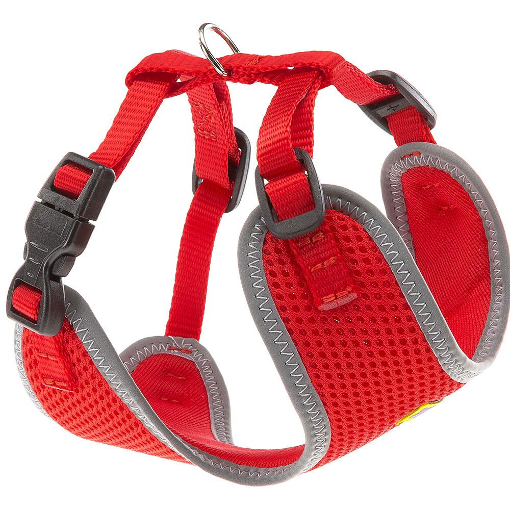 Ферпласт Шлейка Nikita P для собак, XXS, обхват шеи 15-22 см, обхват груди 22-33 см,  красная, нейлон, Ferplast