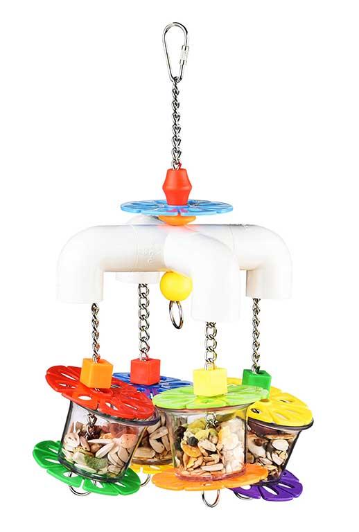 Брико Подвеска и фуражная игрушка BR-A298 для крупных птиц Фуражная Карусель, 29*17 см, Briko