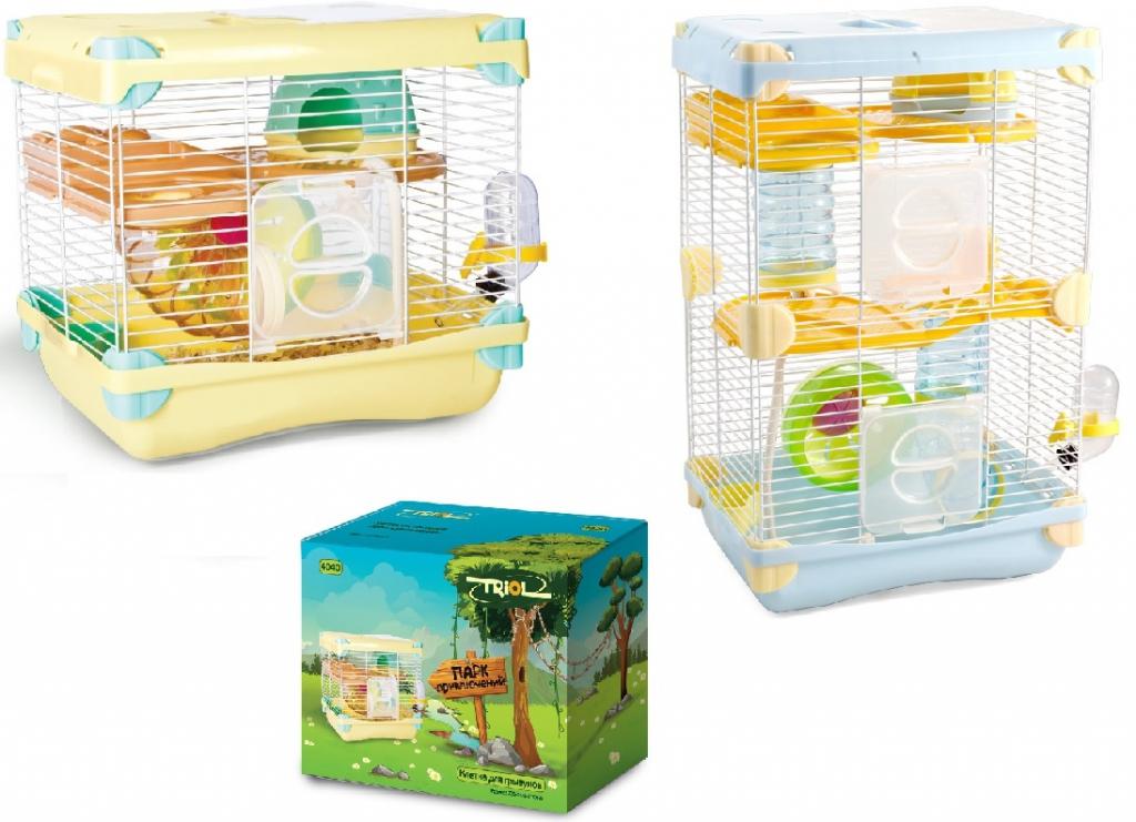 Триол Клетка для мелких грызунов Парк приключений, в ассортименте, Triol