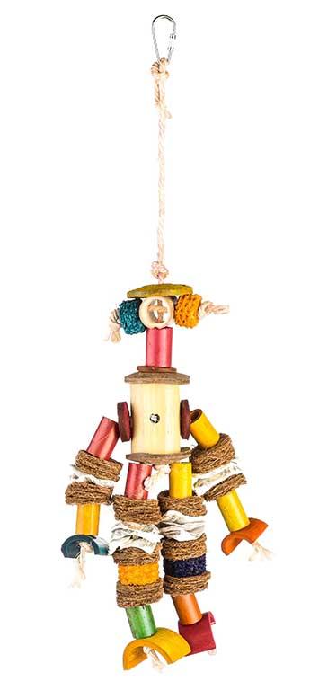 Брико Игрушка Бамбуковый Человек BR-A373 для птиц, 20*15 см, Briko