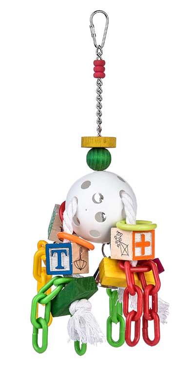 Брико Игрушка Игровой мяч BR-A272 для птиц, 46*20*10 см, Briko