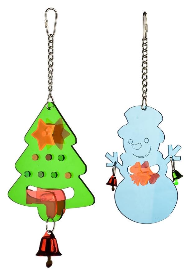 Брико Игрушка Новогодняя для птиц, в ассортименте, акрил, Briko
