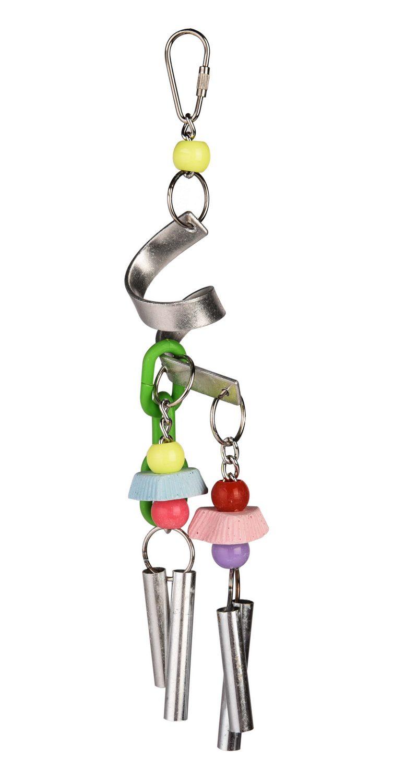 Брико Игрушка Музыкальный набор из металла BR-A033 с минеральными камнями для птиц, 30*10 см, Briko