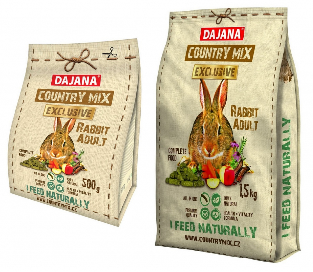 Даяна Корм Exclusive Rabbit Adult для взрослых кроликов, в ассортименте, Dajana