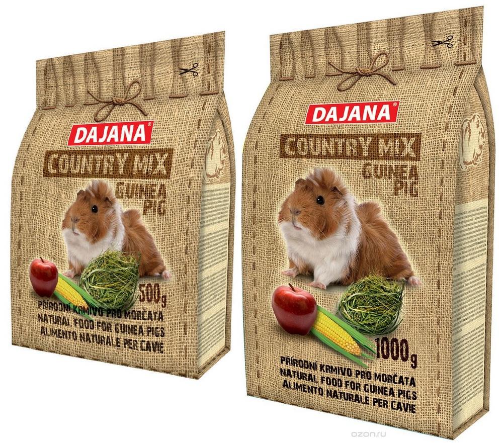 Даяна Корм Country Mix Guinea Pig для морских свинок, в ассортименте, Dajana
