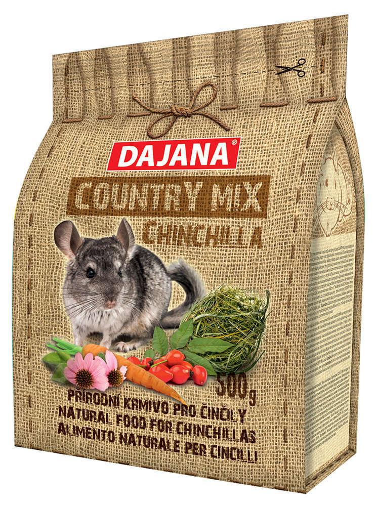 Даяна Корм Country Mix Chinchilla для шиншилл, 500 г, Dajana