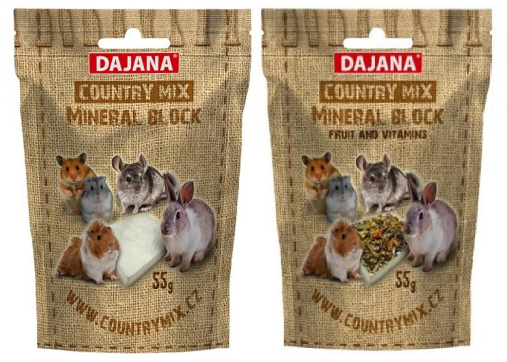 Даяна Минеральный камень Country Mix для грызунов, в ассортименте, 55 г, Dajana