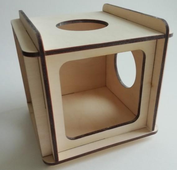 Зигзаг Домик-игрушка для мелких грызунов, фанера, Россия