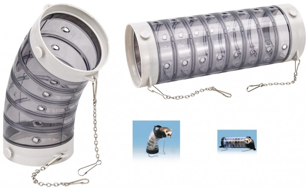 Ферпласт Прозрачная труба с цепочками для крупных грызунов и хорьков, в ассортименте, Ferplast