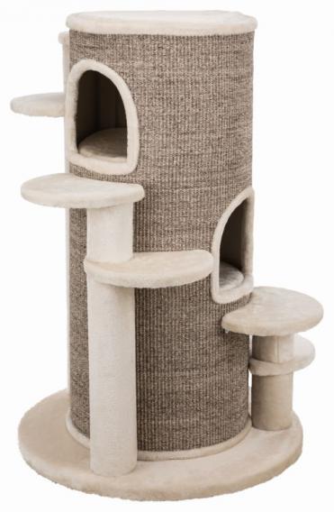 Трикси Домик-башня для крупных кошек Oskar XXL, 76*76*114 см, кремовый/коричневый в крапинку, Trixie