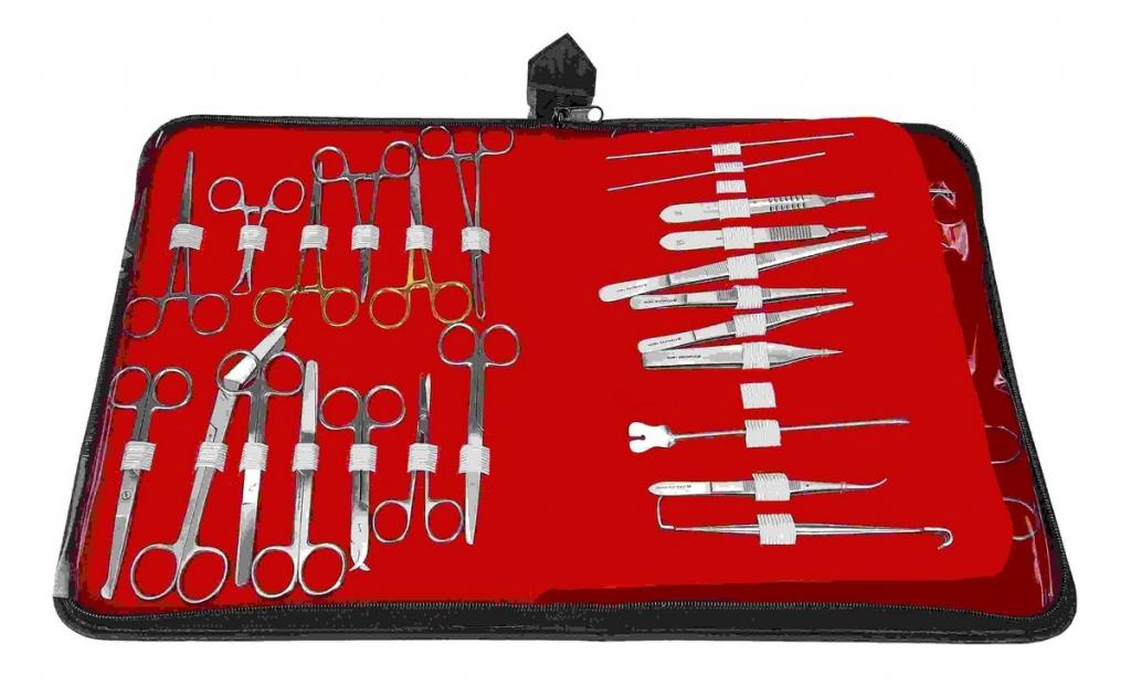 Круз Набор хирургических инструментов в кейсе, 35 шт, Kruuse