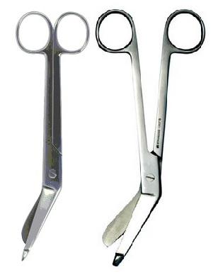 Круз Ножницы для снятия гипса горизонтально-изогнутые с пуговкой, 18 см, в ассортименте, Kruuse