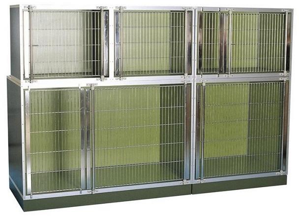 Круз Клетка из нержавеющей стали для стационаров Buster, модель B, зеленая, 100*75*93,7 см, Kruuse