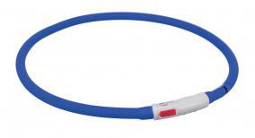 Трикси Светящийся ошейник-кольцо с USB зарядкой силиконовый для собак, максимальная длина 70 см, в ассортименте, Trixie
