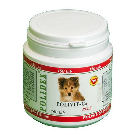 Полидекс Витаминый комплекс Polivit-Ca plus для щенков, беременных и кормящих сук, 150 таблеток