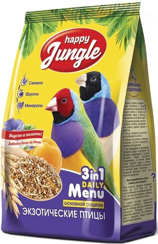 Хэппи Джангл Корм J108 для экзотических птиц, 500 г, Happy Jungle