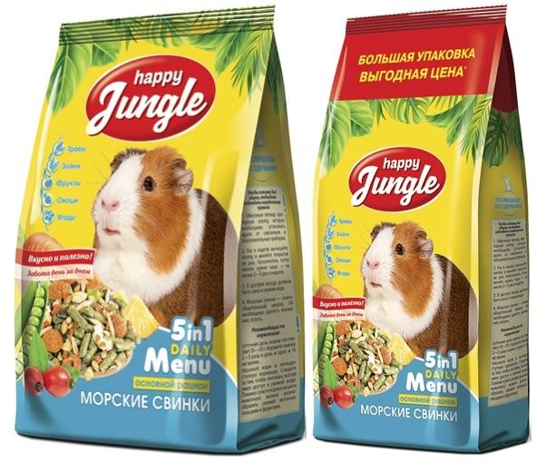 Хэппи Джангл Корм для морских свинок, в ассортименте, Happy Jungle