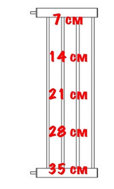 Доглэнд Расширитель для межкомнатной перегородки DG-05 высотой 75 см, в ассортименте, металл, цвет белый, Dog Land