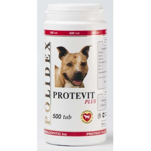 Полидекс Протевит плюс 0900 стимулирует рост мышечной массы для щенков и собак мелких и средних пород, 500 таблеток, Polidex
