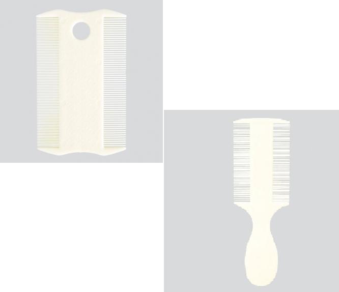 Трикси Расчёска (гребень) антиблошиная c частыми зубцами, двойная, пластик, в ассортименте, Trixie