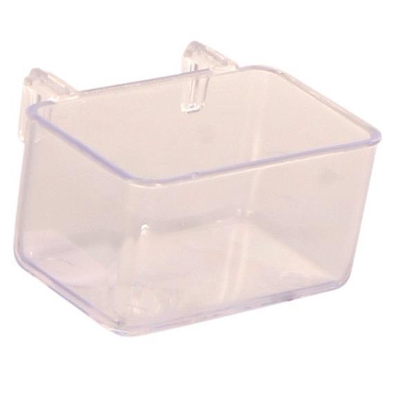 Трикси Кормушка пластиковая внутренняя для птиц и грызунов, высота 5,5 см, 50 мл, 2 шт/уп., Trixie