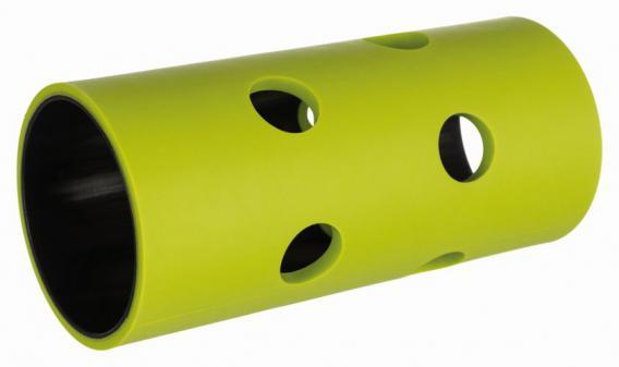 Трикси Игрушка Ролл для сена и лакомств, пластик/ТПР, 5,5*12 см, зеленый, Trixie