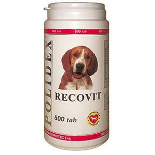 Полидекс Рековит 1006 усиленный комплекс минералов, витаминов для щенков и собак мелких и средних пород, 500 таблеток, Polidex